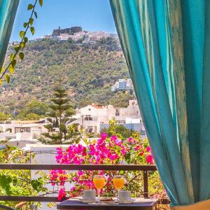 Double room with balcony overlooking Monastery